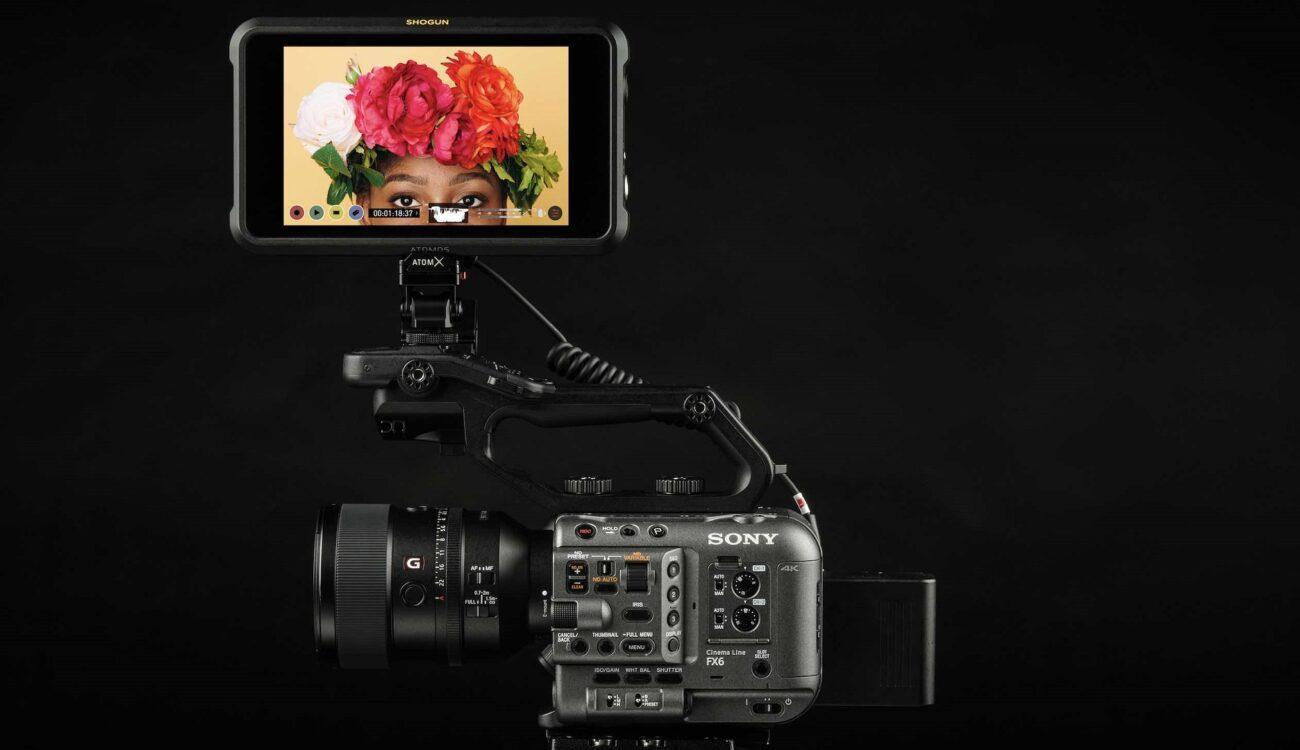 El Atomos Shogun 7 admite salida ProRes RAW de 12 bits de la Sony FX6 hasta DCI 4K60