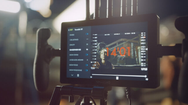 SmallHD Monitor with Teradek RT data overlay