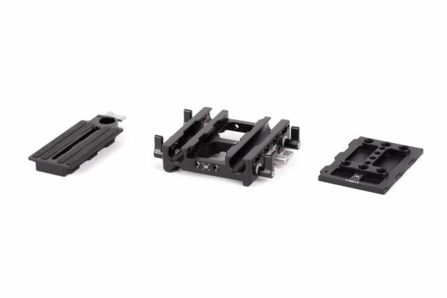Quick-release plate and integrated dovetail support