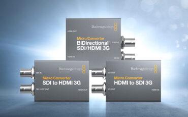 Ya están disponibles los Micro Convertidores 3G para SDI/HDMI de Blackmagic Design