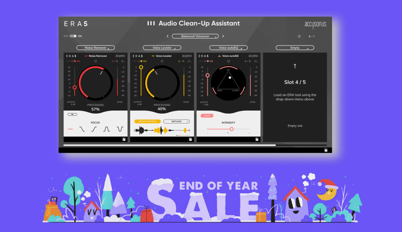 Accusonus ERA v5.1 Launched – End of Year Sale