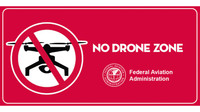FAA - No Drone Zone - Indicates Areas No Fly Zones for Drones (Source: Energy.gov)