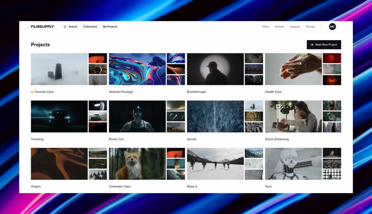 Filmsupply Website Revamp – Find Premium Stock Footage Easily