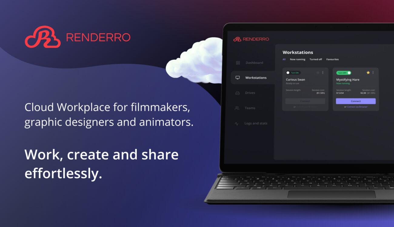 Renderro: Lugar de trabajo en la nube para cineastas, diseñadores y animadores