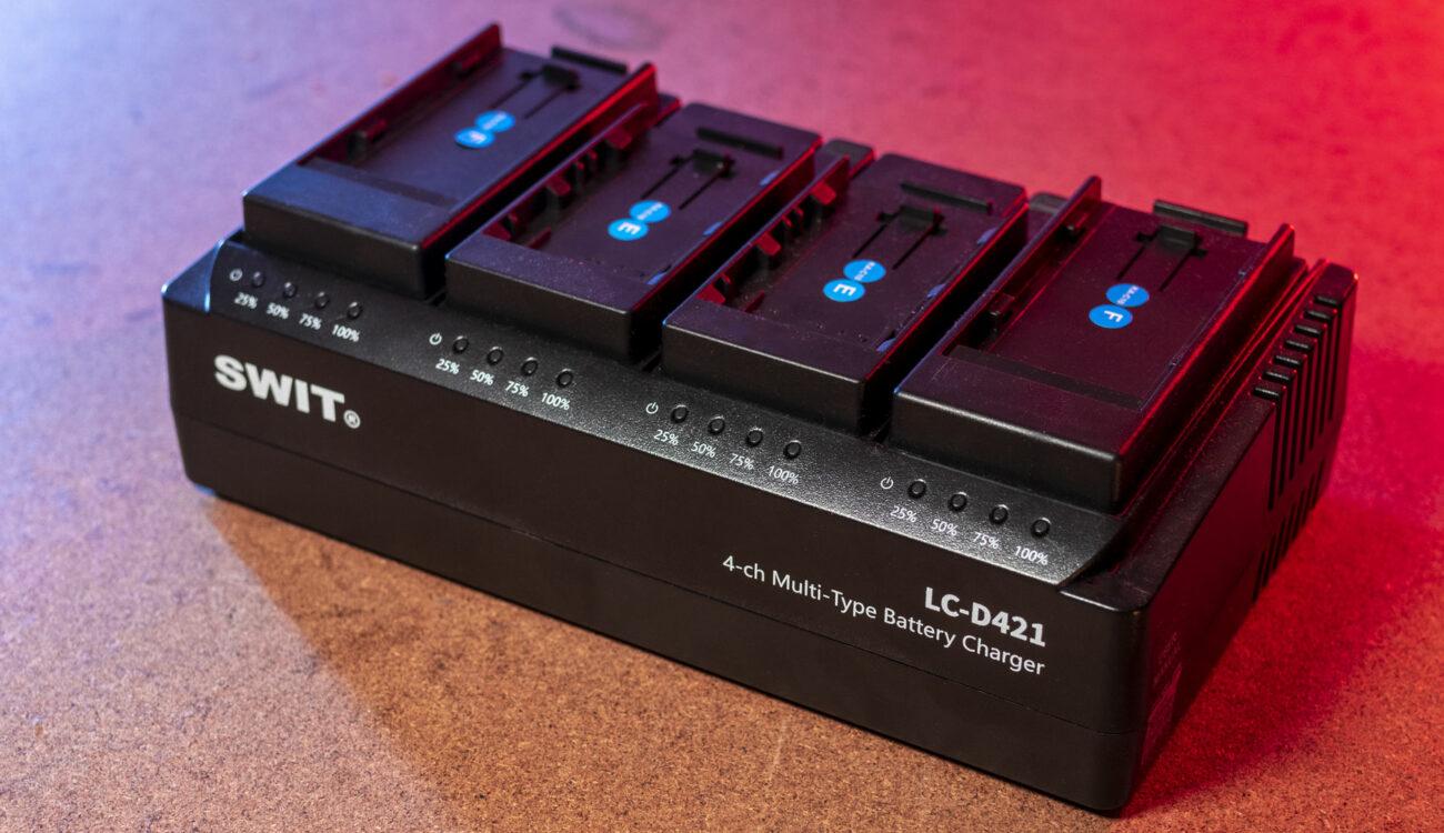 Reseña del SWIT LC-D421: Cargador de batería versátil de cuatro canales