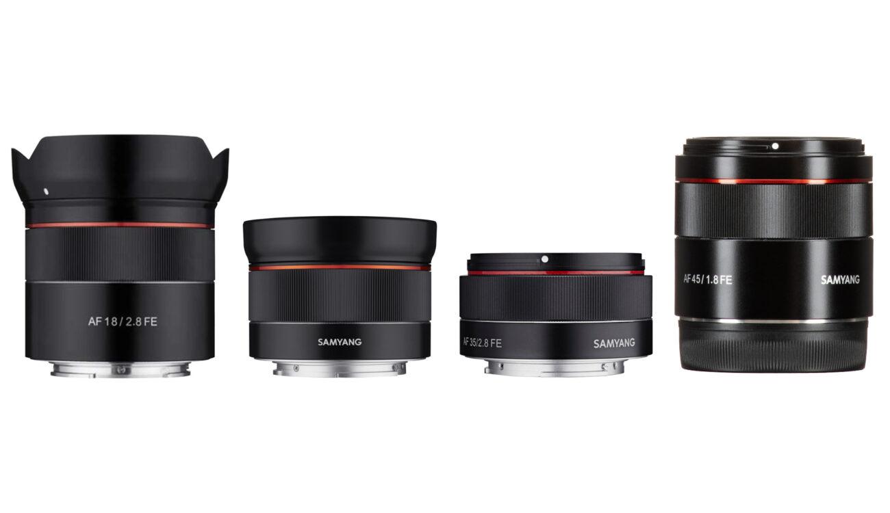 Actualizaciones de firmware de Samyang para determinados lentes Sony FE – Mejoraron el AF