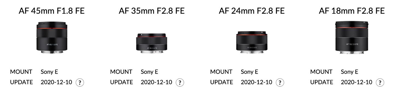 Samyang firmware update