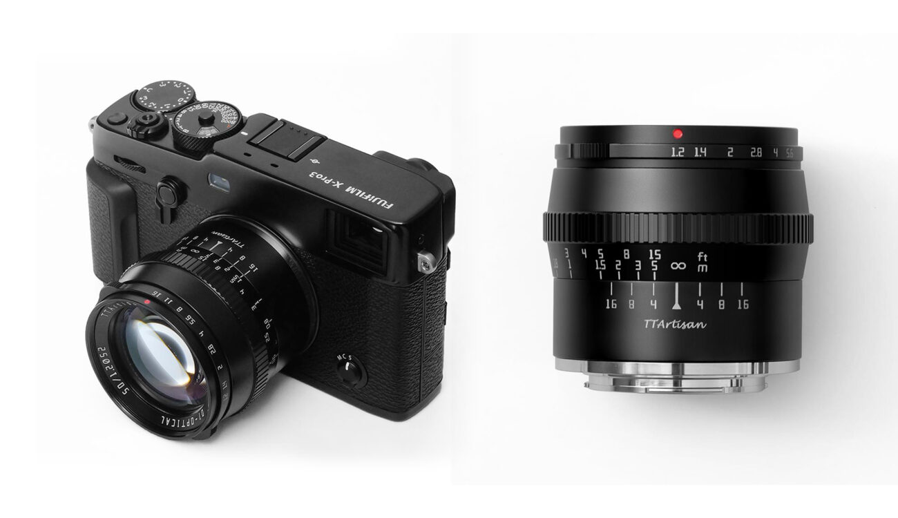 TTArtisan 50mm F1.2 Lens for APS-C/M43 Cameras Released