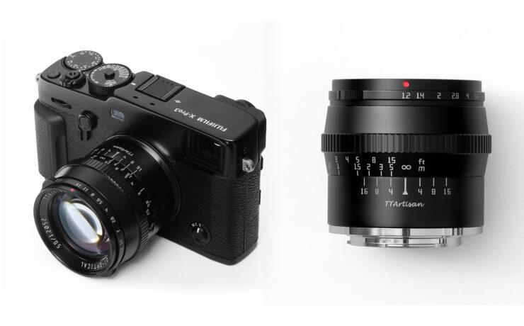 TTArtisan 50mm F1.2 Lens for APS-C/M43 Cameras Released