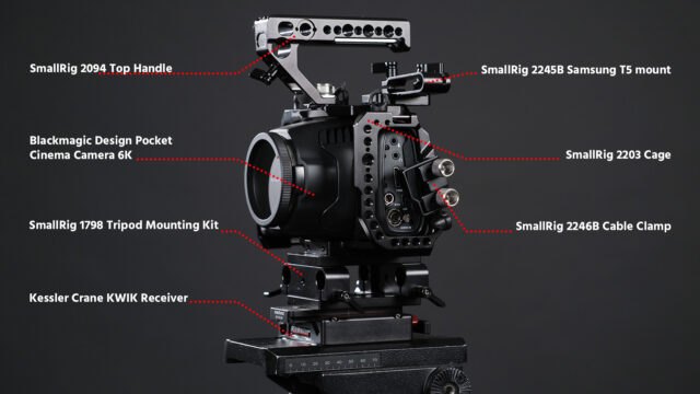 The Basic Building Blocks of the BMPCC6K Rig.
