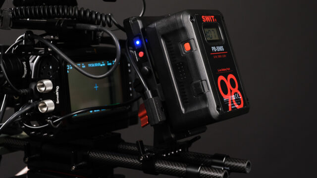 SWIT PB-S98S battery and SmallRig V-mount battery plate.