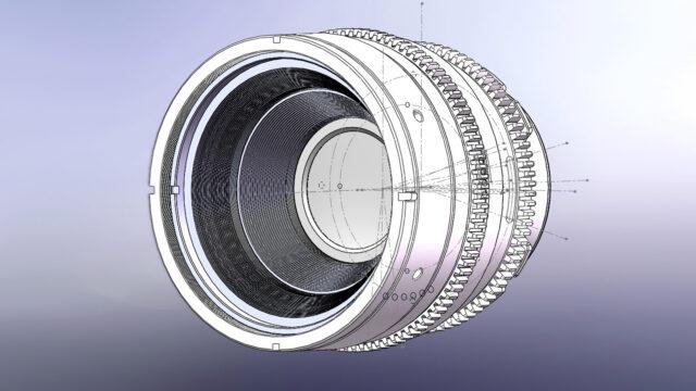 Dulens APO Mini Prime Vintage Lens Model - Construction Drawing (Credits: Dulens)