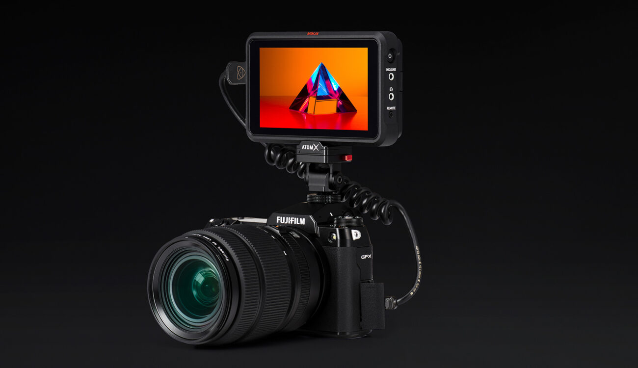 Atomos Ninja V records ProRes RAW from FUJIFILM GFX100S
