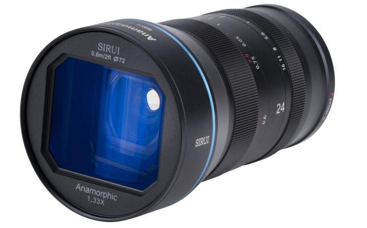 SIRUI 24mm F2.8 Anamorphic 1.33x Lens Announced