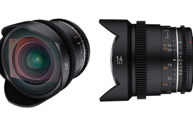 Samyang VDSLR 14mm T3.1 MK2 Prime Lens Released