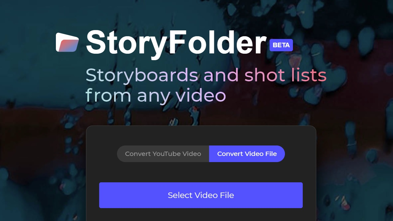StoryFolder Automatically Converts Videos to Storyboards