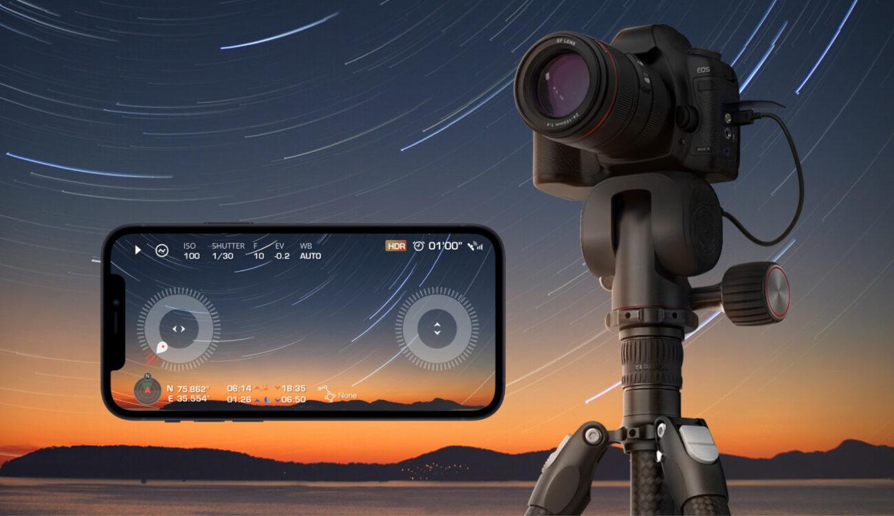 Benro Polaris - Cabezal de trípode eléctrico con control de cámara