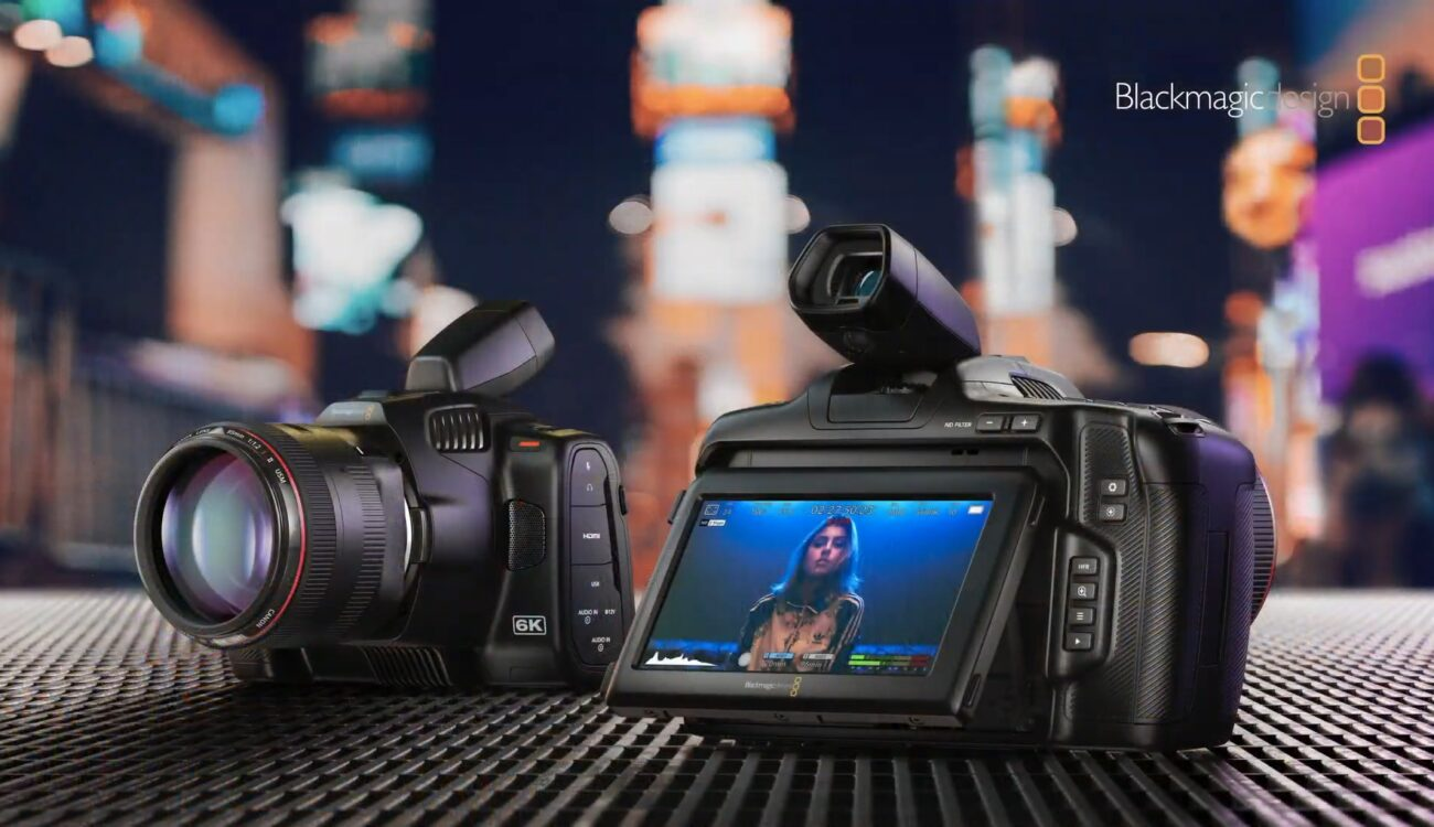 Blackmagic Pocket Cinema Camera 6K Pro with Built-in NDs & Tiltable Screen, Optional EVF Announced