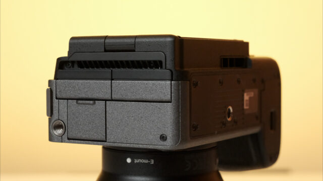 Sony FX3 Active cooling system