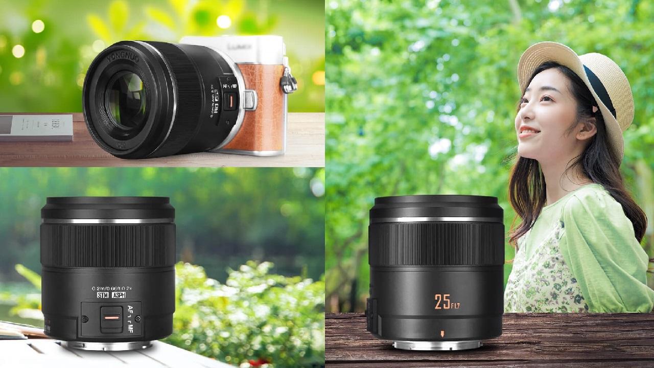 Anuncian el lente Yongnuo 25mm f/1.7 para Micro Cuatro Tercios