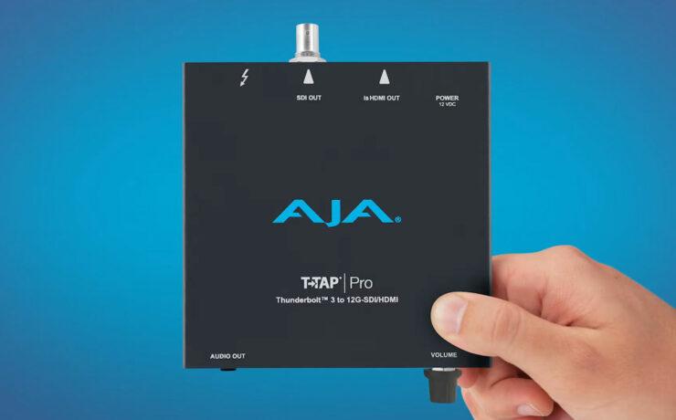 AJA T-TAP Pro Thunderbolt 3 – 4K HDMI 2.0 and 12G-SDI Output Box Released