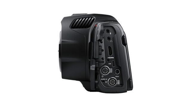 BMPCC 6K Pro two min XLR audio inputs