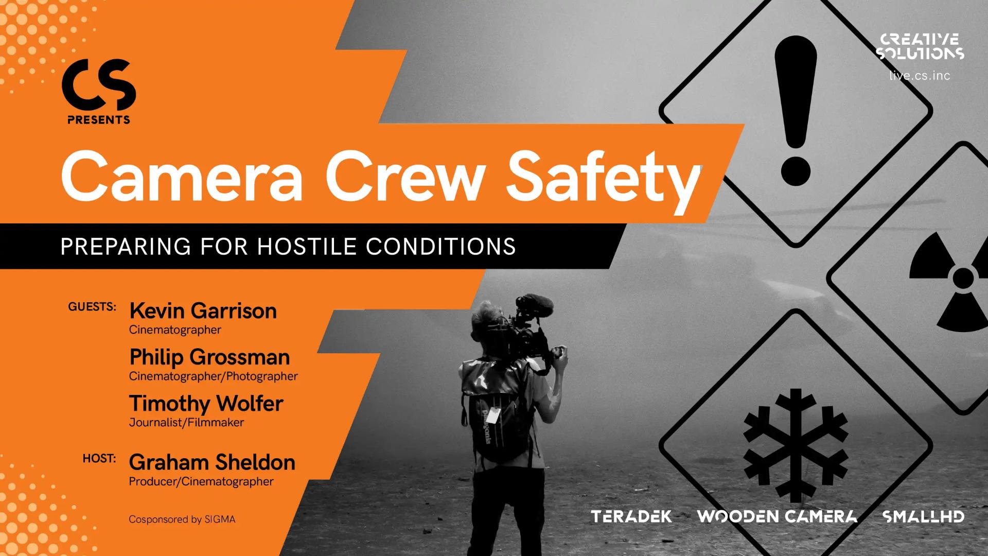 カメラクルーの安全について - 3月25日に無料オンラインイベントを開催