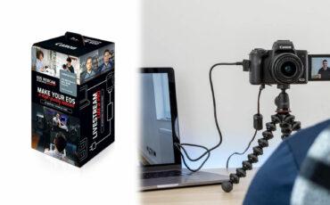 キヤノンがEOS Webcamアクセサリースターターキットを発売