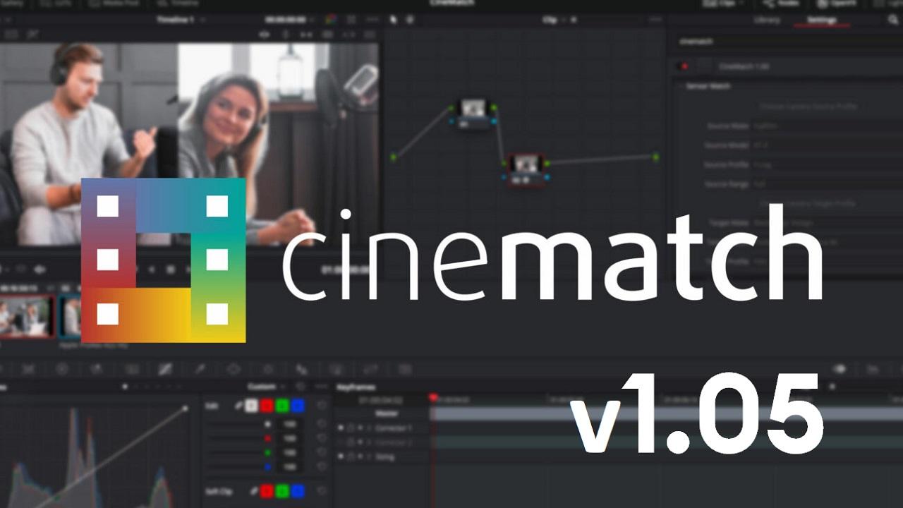 Lanzan la actualización de CineMatch V1.05 – Añadieron la exportación LUT