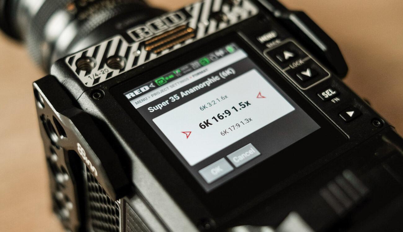 La RED Komodo admite soporte para R3D anamórfico 6K y más, con la actualización de firmware V1.5.0 Beta