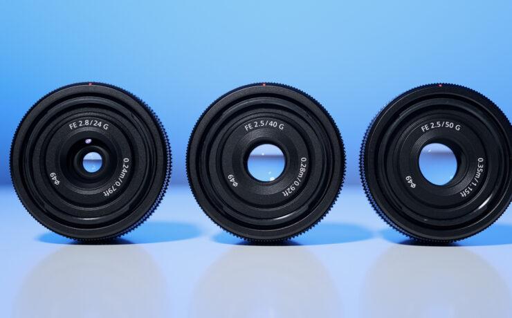 Sony 24mm F2.8 G, 40mm F2.5 G and 50mm F2.5 G – New Compact Lenses Announced