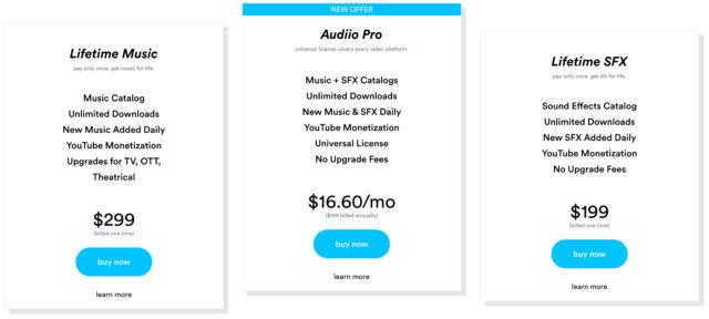Audiio pricing