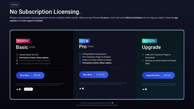 Pricing Overview (Credits: LIT labs & Color.io)
