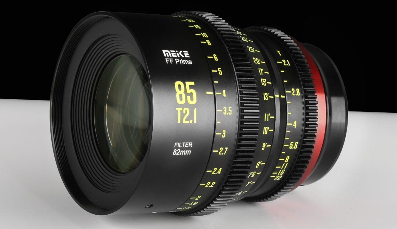 Meike 85mm T2.1 Full-Frame Cinema Prime Lens Announced