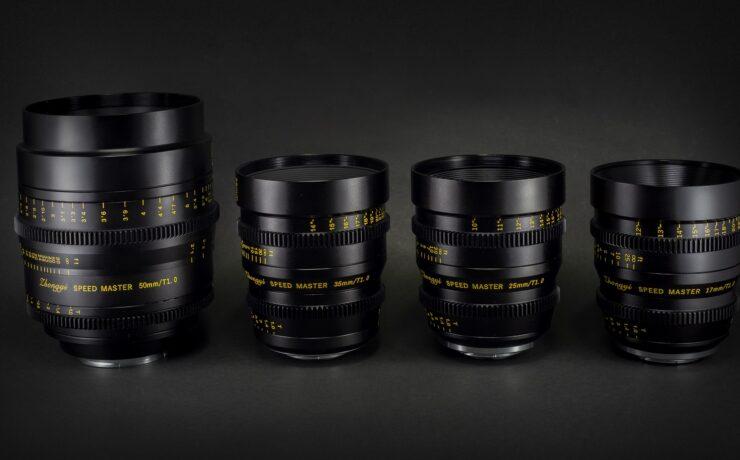 ZY Optics Releases Four Mitakon Speedmaster T1.0 Cinema Lenses