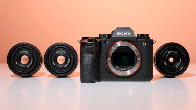 Sony A1 and 24,40 and 50mm prime lenses