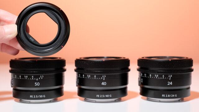 Sony Three new  Prime Lenses