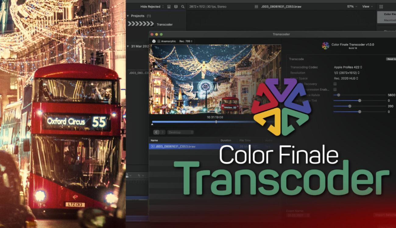 El plugin Color Finale Transcoder permite importar material de archivo RAW en Final Cut Pro