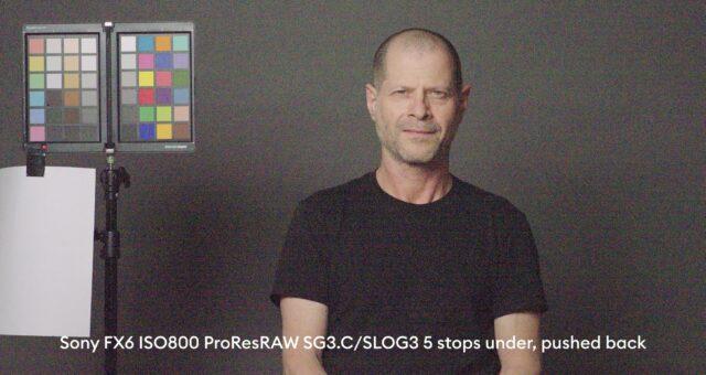 5 stops below base exposure, ProRes RAW
