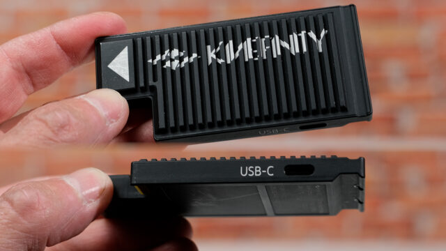 KineMAG SSD with built in USB-C connector
