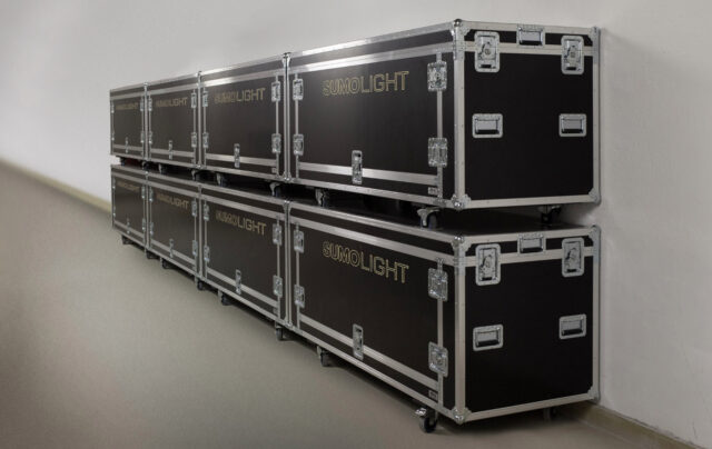 Cases full of SUMOSKY fixtures