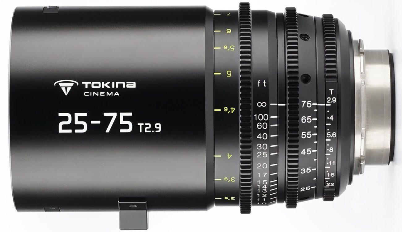 トキナが25-75mm T2.9シネズームを発売