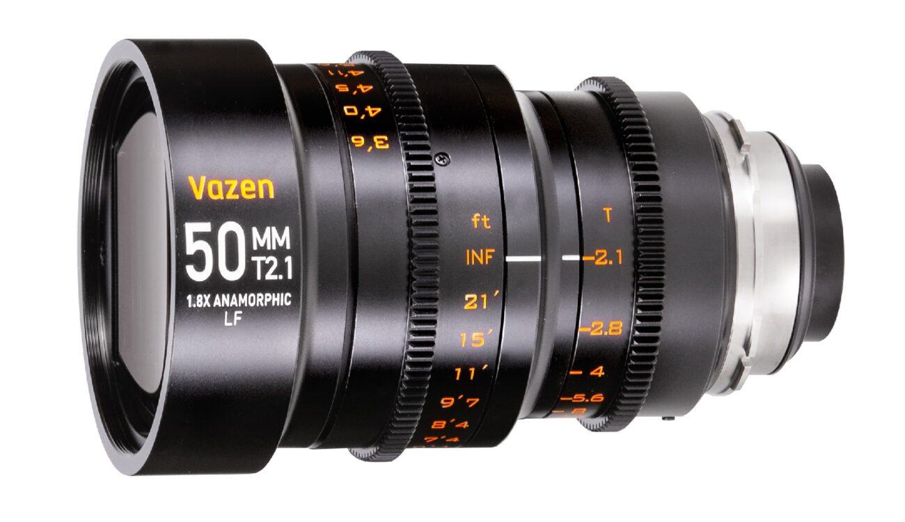 Vazen 50mm T2.1 1.8x Anamorphic Lens for EF/PL Large Format Sensors Announced