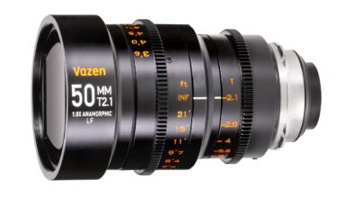 Vazen 50mm T2.1 1.8x Anamorphic Lens for EF/PL Large Format Sensors Announced