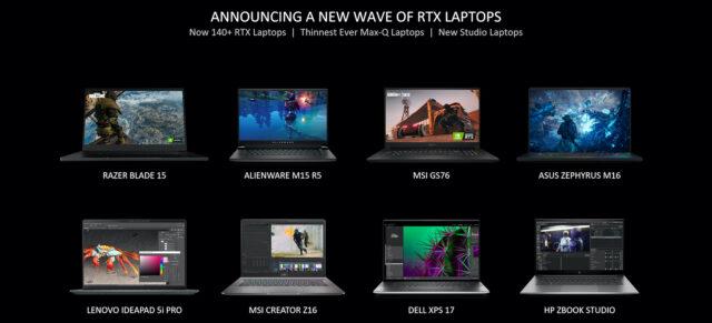NVIDIA's new RTX Laptops