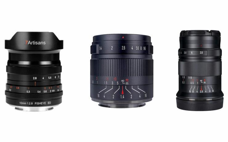 7Artisans 10mm F/2.8 Fisheye, 55mm F/1.4 II and 60mm F/2.8 II Macro Lenses Released