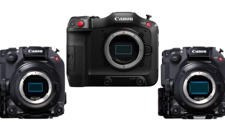 Canon EOS C70, C300 Mark III and C500 Mark II Firmware Updates Announced