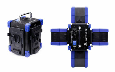 Power up to 1000W LED Light with 4 V-Mounts via Fxlion SKY THREE 48V Portable Power Adapter