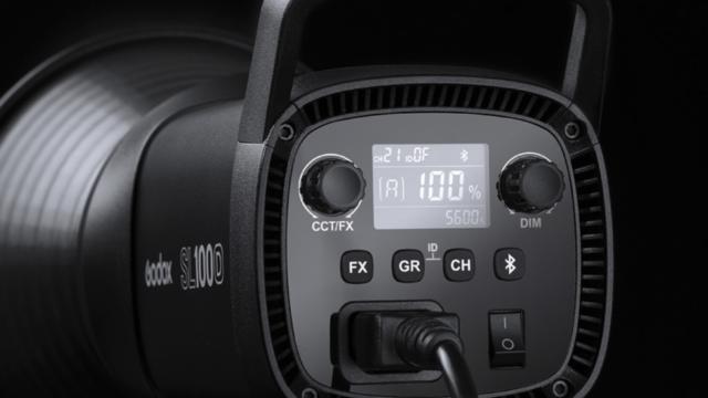 Godox SL100D Control Interface.