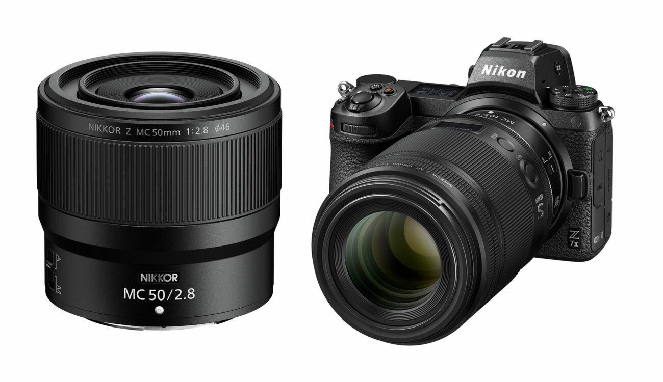Nikon NIKKOR Z MC 105mm F/2.8 VR S and  NIKKOR Z MC 50mm F/2.8 Macro Lenses Shipping Soon